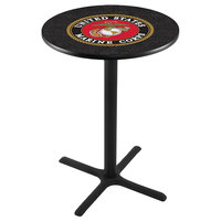 Holland Bar Stool L211B4228MARINE 28 inch Round United States Marine Corps Bar Height Pub Table