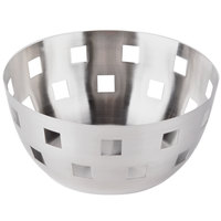 American Metalcraft SB1 8 inch Round Stainless Steel Checkered Serving Bowl