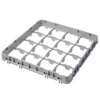 Cambro 16E2151 Camrack 16 Compartment Soft Gray Half Drop Full Size Camrack Extender