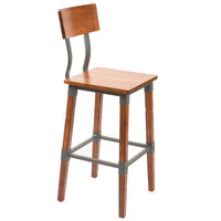 Lancaster Table & Seating Rustic Industrial Bar Height Chair