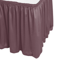 Snap Drape WYN1V1329-VIO Wyndham 13' x 29 inch Violet Shirred Pleat Table Skirt with Velcro® Clips