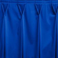 Snap Drape WYN6V17629-RBLU Wyndham 17' 6 inch x 29 inch Royal Blue Bow Tie Pleat Table Skirt with Velcro® Clips