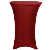 Marko EMB5026HT30046 Embrace 30 inch Round Burgundy Bar Height Spandex Table Cover