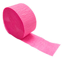 Creative Converting 078290 81' Hot Magenta Pink Streamer Paper