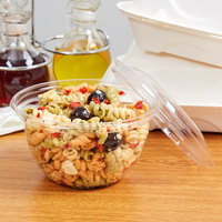 Eco Products EP-SB18 18 oz. Clear Compostable Plastic Salad Bowl with Lid - 150/Case
