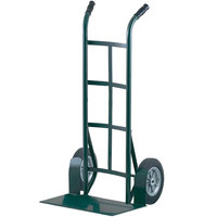 Harper H51T86 Super Steel Dual Handle 1000 lb. Hand Truck with 10 inch Solid Rubber Wheels