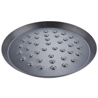 American Metalcraft NCAR8HC 7 3/4 inch Hard Coat Anodized Aluminum CAR Pizza Pan with Nibs