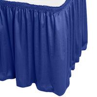 Snap Drape WYN1V1329-RBLU Wyndham 13' x 29 inch Royal Blue Shirred Pleat Table Skirt with Velcro® Clips