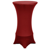 Marko EMB5026HT24046 Embrace 24 inch Round Burgundy Bar Height Spandex Table Cover