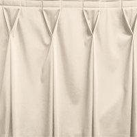 Snap Drape WYN6V1329-BNE Wyndham 13' x 29 inch Bone Bow Tie Pleat Table Skirt with Velcro® Clips