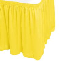 Snap Drape WYN1V1329-SUN Wyndham 13' x 29 inch Sunflower Shirred Pleat Table Skirt with Velcro® Clips