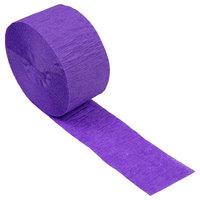 Creative Converting 318910 81' Amethyst Purple Streamer Paper