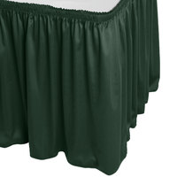 Snap Drape WYN1V21629-JDE Wyndham 21' 6 inch x 29 inch Jade Shirred Pleat Table Skirt with Velcro® Clips