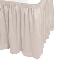 Snap Drape WYN1V1329-SC Wyndham 13' x 29 inch Silver Cloud Shirred Pleat Table Skirt with Velcro® Clips