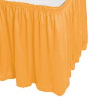 Snap Drape WYN1V1329-TOP Wyndham 13' x 29 inch Topaz Shirred Pleat Table Skirt with Velcro® Clips