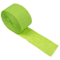 Creative Converting 077123 81' Fresh Lime Green Streamer Paper