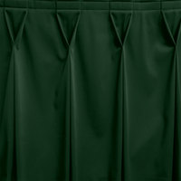 Snap Drape WYN6V1329-JDE Wyndham 13' x 29 inch Jade Bow Tie Pleat Table Skirt with Velcro® Clips