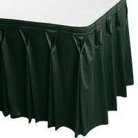 Snap Drape WYN6V1329-JDE Wyndham 13' x 29 inch Jade Bow Tie Pleat Table Skirt with Velcro® Clips