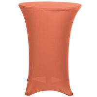 Marko EMB5026HT30030 Embrace 30 inch Round Peach Bar Height Spandex Table Cover