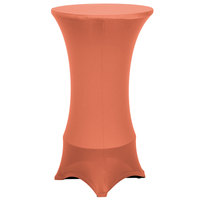 Marko EMB5026HT24030 Embrace 24 inch Round Peach Bar Height Spandex Table Cover