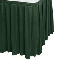 Snap Drape WYN3V1329-JDE Wyndham 13' x 29 inch Jade Box Pleat Table Skirt with Velcro® Clips