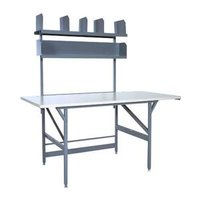 Bulman A80-05 36 inch x 72 inch Basic Packing Table with Shelves