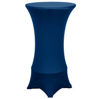 Marko EMB5026HT24062 Embrace 24 inch Round Cadet Blue Bar Height Spandex Table Cover