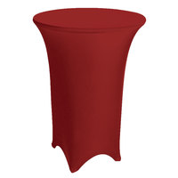 Marko EMB5026HT48046 Embrace 48 inch Round Burgundy Bar Height Spandex Table Cover
