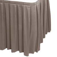 Snap Drape 5412CE29B3-097 Wyndham 13' x 29 inch Gray Box Pleat Table Skirt with Velcro® Clips