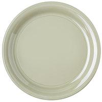 """Carlisle 4300416 Durus 9"""" Firenze Green Narrow Rim Melamine Plate - 24/Case"""