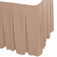 Snap Drape WYN5V1329-SBL Wyndham 13' x 29 inch Sable Continuous Pleat Table Skirt with Velcro® Clips