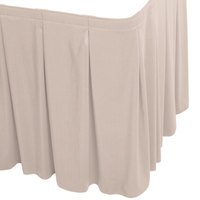 Snap Drape WYN5V1329-SC Wyndham 13' x 29 inch Silver Cloud Continuous Pleat Table Skirt with Velcro® Clips