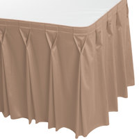 Snap Drape WYN6V1329-SBL Wyndham 13' x 29 inch Sable Bow Tie Pleat Table Skirt with Velcro® Clips