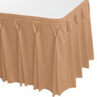 Snap Drape WYN6V1329-SNDL Wyndham 13' x 29 inch Sandalwood Bow Tie Pleat Table Skirt with Velcro® Clips