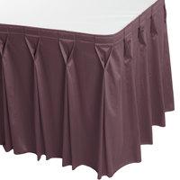 Snap Drape WYN6V1329-VIO Wyndham 13' x 29 inch Violet Bow Tie Pleat Table Skirt with Velcro® Clips