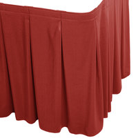 Snap Drape WYN5V1329-TERA Wyndham 13' x 29 inch Terra Cotta Continuous Pleat Table Skirt with Velcro® Clips
