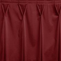Snap Drape WYN6V1329-WIN Wyndham 13' x 29 inch Wine Bow Tie Pleat Table Skirt with Velcro® Clips