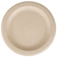 Eco Products EP-PW6 6 inch Round Wheat Straw Compostable Plate   - 50/Pack