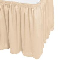 Snap Drape WYN1V17629-CRM Wyndham 17' 6 inch x 29 inch Cream Shirred Pleat Table Skirt with Velcro® Clips