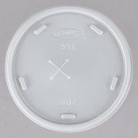 Dart Solo 8SL Translucent Lid with Straw Slot - 1000/Case