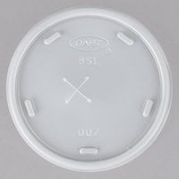 Dart 8SL Translucent Lid with Straw Slot - 1000/Case