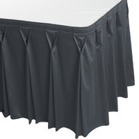 Snap Drape WYN6V1329-SLTB Wyndham 13' x 29 inch Slate Blue Bow Tie Pleat Table Skirt with Velcro® Clips