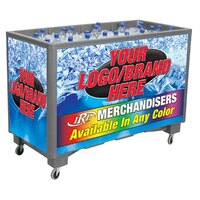 Gray Extra Large Ice Saver 065 Mobile 140 qt. Frost Box with Casters