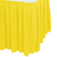 Snap Drape WYN3V1329-SUN Wyndham 13' x 29 inch Sunflower Box Pleat Table Skirt with Velcro® Clips