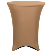 Marko EMB5026HT36049 Embrace 36 inch Round Sandalwood Bar Height Spandex Table Cover