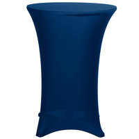 Marko EMB5026HT30062 Embrace 30 inch Round Cadet Blue Bar Height Spandex Table Cover