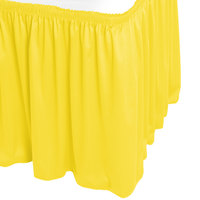 Snap Drape WYN1V17629-SUN Wyndham 17' 6 inch x 29 inch Sunflower Shirred Pleat Table Skirt with Velcro® Clips