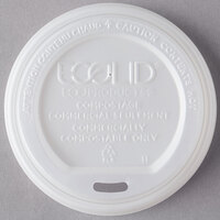 Eco Products EP-ECOLID-W 10-20 oz. Compostable Plastic Hot Cup Lid - 50/Pack
