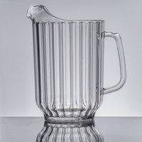 Cambro P600CW Camwear 60 oz. Clear Plastic Pitcher - 6/Case