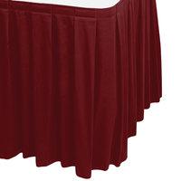 Snap Drape WYN3V1329-WIN Wyndham 13' x 29 inch Wine Box Pleat Table Skirt with Velcro® Clips